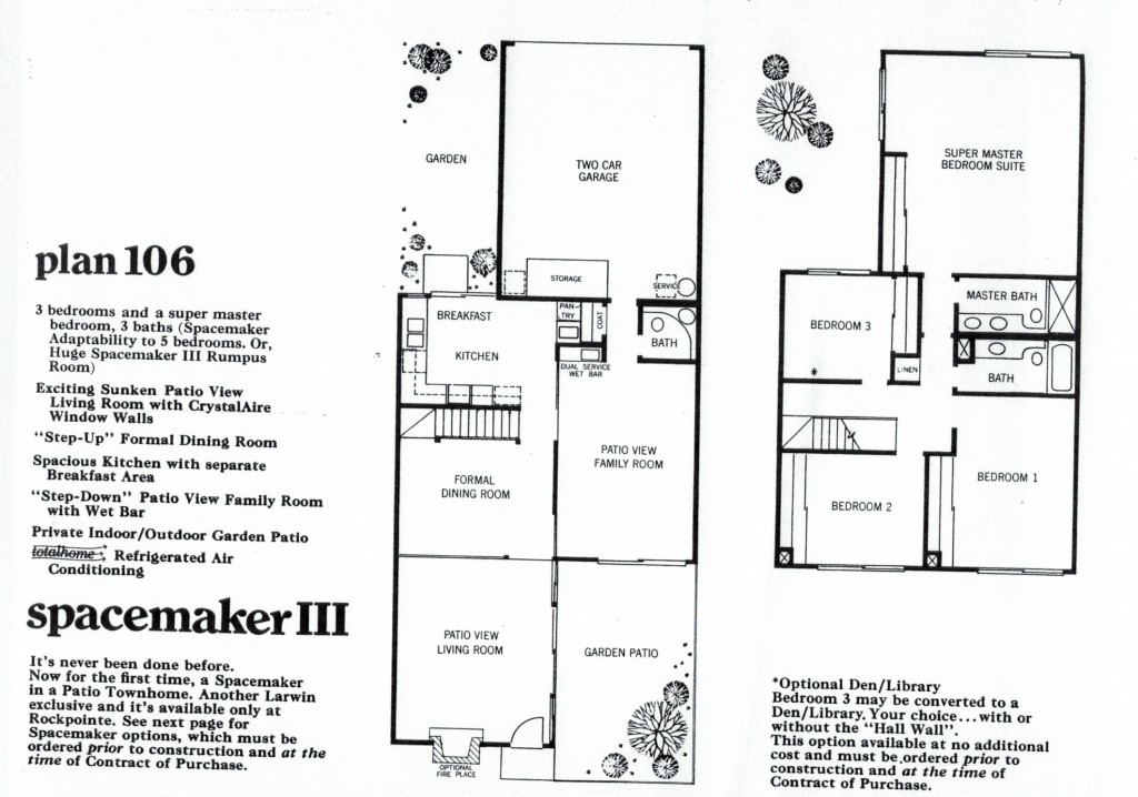 Rockpointe Condos Spacemaker Bedroom Floor Plan 106